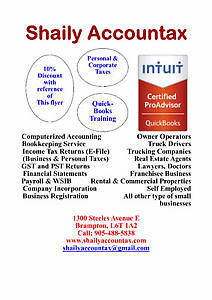 SHAILY ACCOUNTAX (Accounting/Bookkeeping/Income Tax) Cornwall Ontario image 1