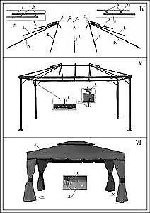 Structure pour Gazebo Bellagio