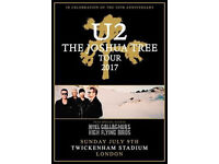 U2 Ticket (9th July) - Standing (General Admission)