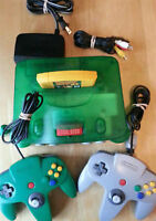 AtomicGreen Nintendo 64 Console Donkey Kong Memory 2 controllers