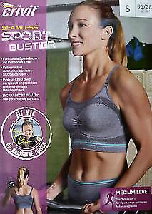 Sport Bustier Crivit Fitness BH Unterwäsche Wäsche Fitness Sportwäsche Damen R2