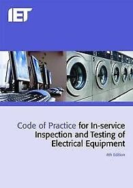 IET Code of practice for in service inspection and testing 4th edition PAT test