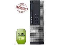 FAST DELL DUAL CORE PC COMPUTER DESKTOP TOWER WINDOWS 7 WI-FI 8GB RAM 500GB HDD