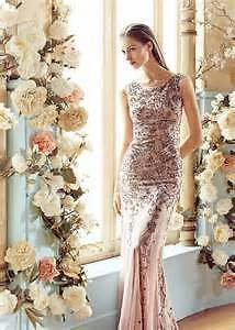 MANGO Lavender tulle gown with embroidered beads and sequins M/L