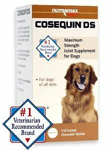 Cosequin DS Max Strenght Joint Supplement for Dogs 110 Chewable Tablets Nutramax