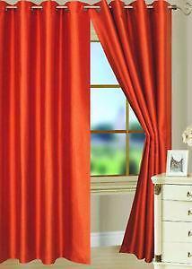 Orange Curtains Ebay