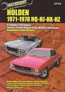 Max Ellery Holden 1971 - 1978 HQ HJ HX HZ Workshop manual Pasadena Mitcham Area Preview