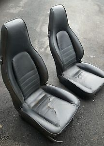 Black CHEAP Porsche 944 Front and Rear Seats in Good Condition