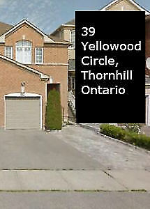 Stunning 3+1 BR house for rent in Thornhill
