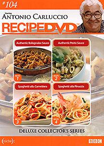 Antonio Carluccio DELUXE COLLECTOR'S SERIES #104 - FOUR RECIPES COOKING DVD