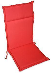 hochlehner auflagen rot ebay. Black Bedroom Furniture Sets. Home Design Ideas
