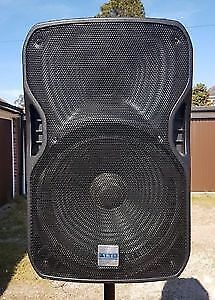 PA Speakers and Amp
