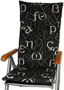 stuhlauflagen auflagen ebay. Black Bedroom Furniture Sets. Home Design Ideas