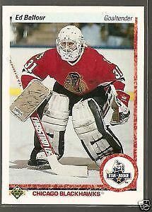 ED BELFOUR .... ROOKIE CARD .... 1990-91 Upper Deck hockey cards