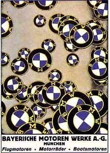 BMW Motorcycle Roundel's.  Sharp Quality Printed Car Poster!!