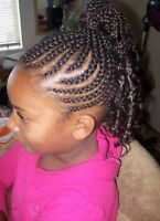 Mobile Hair Braiding Services for Children-Back to School