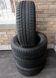 Michelin X-Ice 215/60/ r17 Complete Set Winter Tires 90%