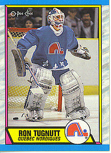 RON TUGNUTT .... ONLY ROOKIE CARD .... 1989-90 OPC hockey cards