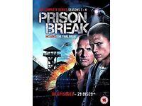 DVD Box Set - PRISON BREAK Seasons 1-4 including The Final Break.
