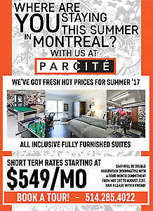 Summer apartments for rent! Appartements d`été à louer!