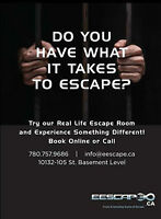 The live action Escape room (games) in downtown....