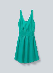 Aritzia green silk Blythe dress size small S NWOT