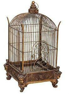 antique bird cage ebay. Black Bedroom Furniture Sets. Home Design Ideas