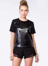CAMEO Simple Song Faux Leather CROC  Top XS BNWT $140 Unley Unley Area Preview