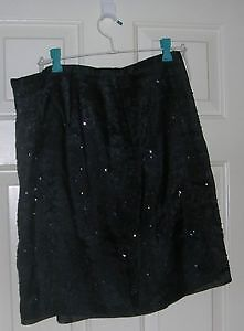 Beaded black skirt size 18