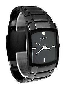 black diamond watch mens fossil black watch diamond