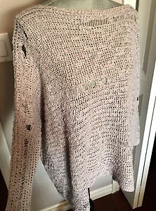 Lilac distressed sweater