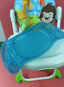 """FISHER PRICE PRECIOUS PLANET BLUE SKY """"EASY CLEAN"""" HIGHCHAIR"""