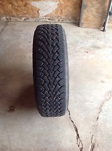 Like new 4 215/70/15 Goodyear studded tires