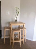 Ikea Bar Table And 2 Stools