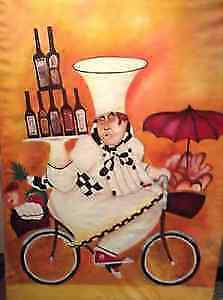 FAMOUS CHEF ON BIKE PAINTING