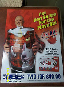 April of 2003 - Four Don Cherry Bubba Cans and Signage