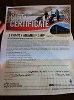 YEAR FAMILY MEMBERSHIP TO NORTHERN SPORTS CENTRE