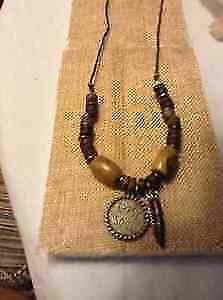 beaded charm necklace - Gypsy soul