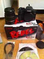 Canon Rebel XS lens 18-55 ++ extra