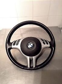 BMW e46 e39 e53 x3 M3 leather steering wheel