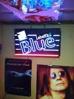 Labatts blue neon bar light,cool in mancave,3 colours/trades