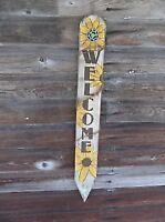 Welcome Garden Stake Post