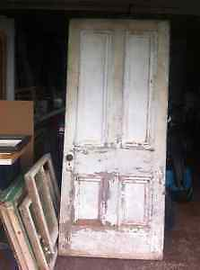 Antique Door with Lock and Key
