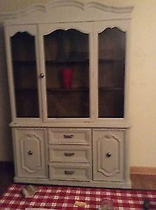 Vintage China cabinet dove tail carpentry solid hardwood...WOW!