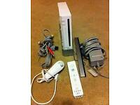 Nintendo wii console in mint condition / all leads/ controllers/ 3 games/ cash or swaps