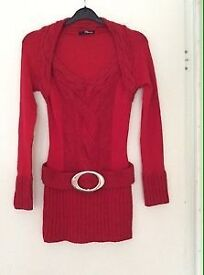 Stunning Jane Norman Jumper in red size 10