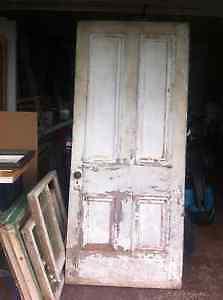 Antique Door with Lock and Key