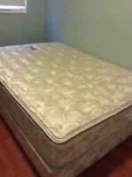 queen size pillowtop mattress and boxspring delivery included