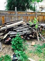 Free firewood - Must pick up from West End