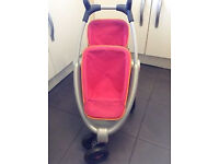 Smoby Maxi-Cosi Quinny Twin 3 Wheel Doll's Pushchair.